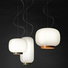 Directly inspired by the form of Japanese paper lanterns, Foscarini Chouchin 3 Reverse Pendant translates the familiar warmth and comforting illumination in to a modern glass form. Referring to the style of the original Chouchin by Ionna Vautrin, the colors are simply reversed, replacing the majority of the stout shade with a soft white finish while placing the color at the base.