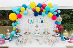 Confetti themed First Birthday Party