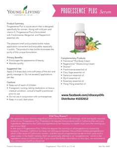 Young Living Essential Oils - Progessence Plus - Learn more about Young Living Essential Oils and how they can support your health – contact me! www.facebook.com/xStaceysOils Distributor# 1032652