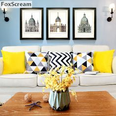 Yellow home decor entry way with walls fabric . yellow home decor accent colors for grey room images . Living Room Decor Colors, Colourful Living Room, Living Room Color Schemes, Interior Design Living Room, Living Room Designs, Living Room Yellow And White, Yellow Home Decor, Grey Home Decor, Home Decor Furniture