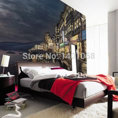 Find More Wallpapers Information about High quality Modern Luxury wallpaper 3D wall mural papel de parede photo wall paper Night town papeis de parede 3d,High Quality wallpaper european,China wallpaper pink Suppliers, Cheap wallpaper vinyl from MSM Co.,Ltd on Aliexpress.com