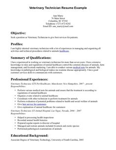 10 Sample Vet Tech Resume Riez Sample Resumes Riez Sample