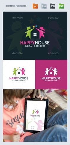 Happy House Logo Template