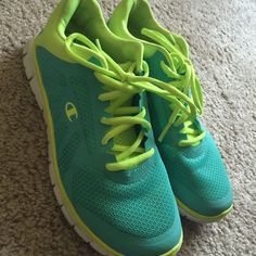 b0baa60c92d005 Shop Women s Payless Blue Green size Athletic Shoes at a discounted price  at Poshmark. Description  These have been worn