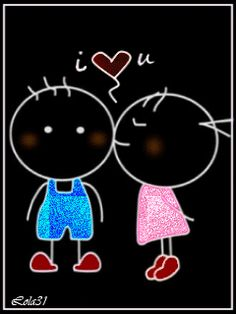 I love you Stick Man, I Love You, My Love, Stick Figures, Romantic Couples, Man Humor, Animated Gif, Beautiful Pictures, Animation