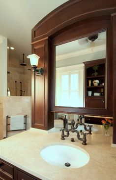 Love this idea...double sided vanity