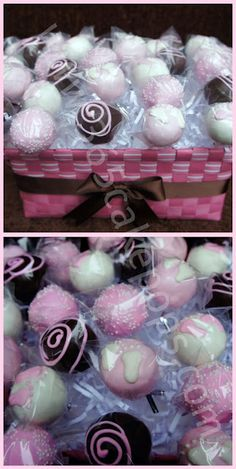 great cake pop and display ideas!