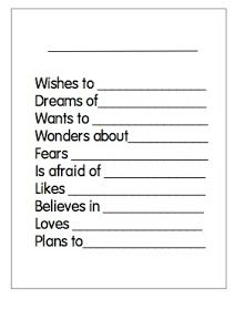 Poems for open house writing journals i am and house for Poetry templates for kids