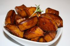 Cranberry-Pear Balsamic Glazed Butternut Squash With Rosemary