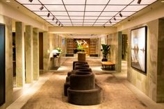 Eingangsbereich in der Cathay Pacific First Class Lounge \