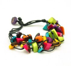 Verstelbare armband Pieces multicolour