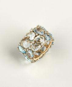 Pomellato aquamarine and diamond 'Lulu' stone ring   BLUEFLY up to 70% off designer brands