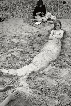 Writing in the Sand Sirkka-Liisa Konttinen (Photographer) Whitley Bay, '78.