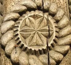 Poarta din Maramures (roata) Wood Work, Places, Romania, Lugares