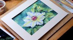 Watercolour Demo: Single White Flower Part 6