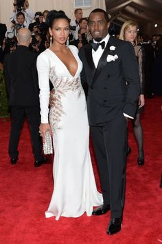 Cassie Ventura in Zuhair Murad with Sean 'Diddy' Combs at the 2015 Met Ball