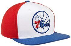0acbddff149 adidas NBA Philadelphia 76ers Flat Brim Snapback Hat