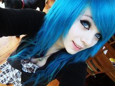 I always wanted blue hair...