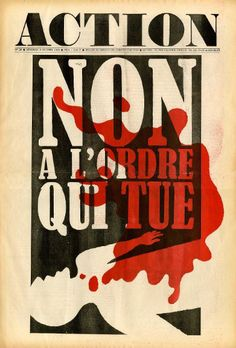 "Action n°28 - ""Non à l'ordre qui tue !"" Vendredi 4 octobre 1968"