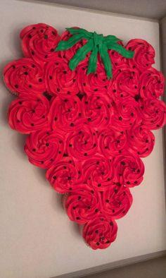 Pull apart strawberry cupcake cake! :)