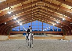 Indoor arena - love the mirrors with the windows above