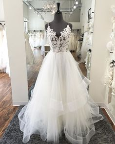 aa41531a1aed Instagram post by Altar Bridal • Aug 9, 2016 at 8:05pm UTC. V Neck Prom  DressesLace ...