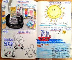Sketch-a-Day by Olya Schmidt, via Behance