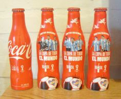 Set of 4 Coca Cola Alu Bottle FIFA World Cup Brazil 2014 from Argentina