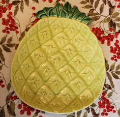 Cemar Pineapple large luncheon plate