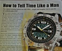 """""""How to tell time like a man."""" (thanks @ catsandcatts!)"""