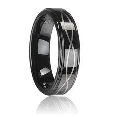 Tungsten Carbide Ring Black Plating Laser