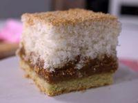 Receta:Virginia Sar/Cuadrados de coco y dulce de leche
