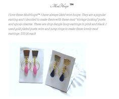 Vintage Looks, Dangles, Wordpress, Hoop Earrings, How To Make, Gold, Pink, Black, Jewelry