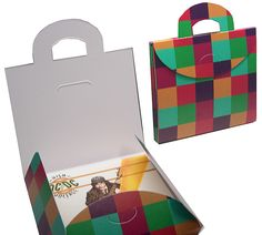 CD briefcase packaging. Used to hold and protect standard shaped CD covers and has a cool chekered pattern