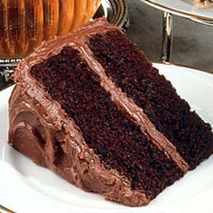 Hershey's Deep Dark Chocolate Cake--My favorite chocolate cake. Moist and chocolaty, with a decadent chocolate frosting.