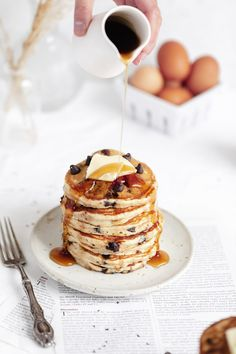 Chocolate Chip Pancakes - The BEST sweet breakfast treat - Broma Bakery