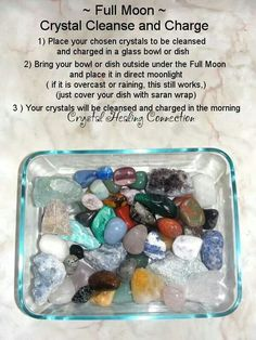 Full moon crystal cleanse and charge