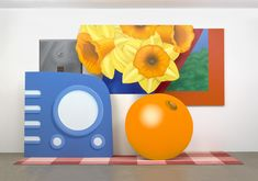 Still Life By: Tom Wesselmann. 10.7.16 This was an oil on canvas painting by an American from the 70s. This painting uses the complimentary colors orange and blue and also uses the triad colors orange, blue, and green. This painting interests me because it is a still life that incorporates pop art and I find that very appealing.