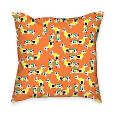 My design inspiration: Painted Dachshunds Throw Pillow on Fab.
