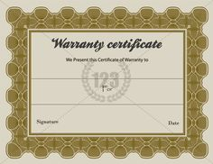 Special warranty certificate templates free 123certificate special warranty certificate templates free 123certificate templates certificate template certificate template pinterest certificate and template yelopaper Image collections