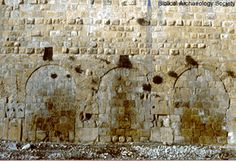 To the east of the Double Huldah Gates was situated a set of three gates, called the Triple Huldah Gates. Leading up to these gates was a staircase. The present gates are not original to the Herodian period, but were built on their ruins (H. ben-Dov, In the Shadow of the Temple, 138).