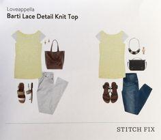 Stitch Fix June 2015 Loveappella Barti Lace Detail Knit Top