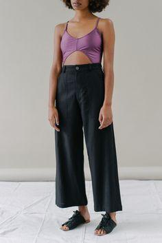 Mara Pant in Black Linen