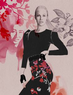 #fashion #illustration by Cecilia Carlstedt