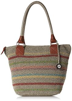 The Sak Cambria Large Tote Bag Voyager Stripe One Size ** To view further for this item, visit the image link.