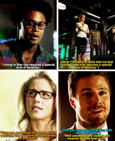 Oliver quoting Felicity & Curtis #Arrow #Olicity #Season4Finale #4x23