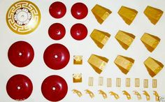 Lego legends of chima fire temple parts and pieces dark red star wars radar dishes pearl gold paper craft embellishment bead button  http://m.ebay.com/sch/ilovelamp3689/m.html?isRefine=true