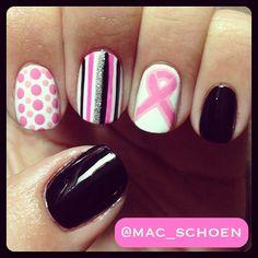 Breast Cancer Awareness by mac_schoen  #nail #nails #nailart