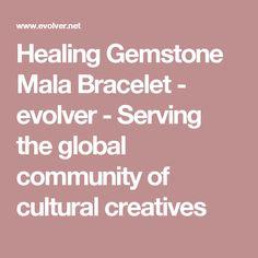 Healing Gemstone Mala Bracelet - evolver - Serving the global community of cultural creatives