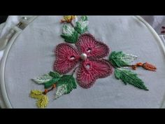 Hand embroidery designs.Beautiful  Spider web mirror work. - YouTube